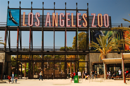 Los Angeles Zoo Entrance 에디토리얼