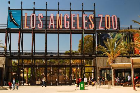 Los Angeles Zoo Entrance Redakční