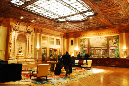 Lobby of the historic Biltmore Hotel in Los Angeles Editorial