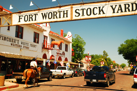 Mounted Police at the Ft Worth Stockyards Texas