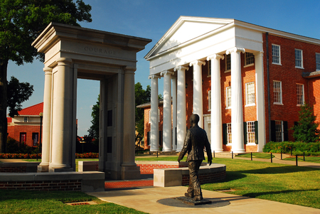 James Meredith Memorial, honoring the first African American to attend the University of Mississippi