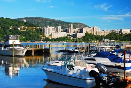 Marina view of West Point Banco de Imagens