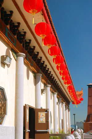 Thien Hau Temple During Chinese New Year, Los Angeles Editorial
