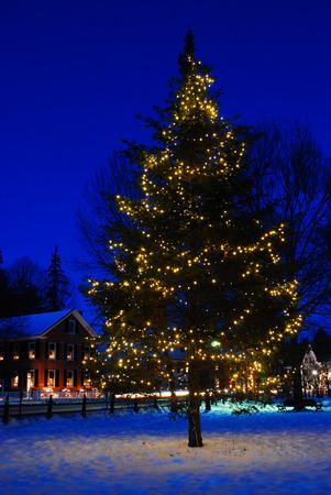 Christmas, Woodstock Green, Vermont Foto de archivo