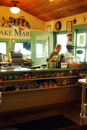 Main Lake Market Interior, on the Banks of Lake Hopatcong, New Jersey Editorial