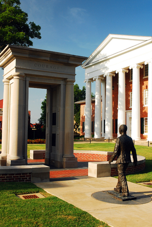 James Meredith Memorial at the University of Mississippi, the first African American to attend the school