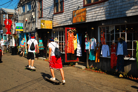 Bearskin Neck in Cape Ann Brings out Shoppers and Skateboarders