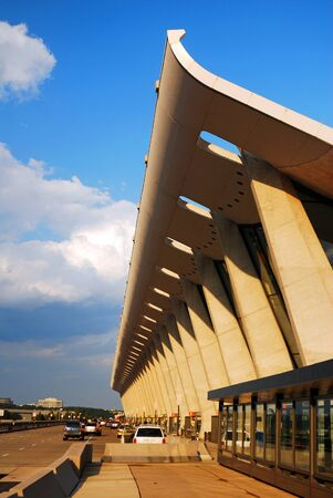 Eero Saarinen's Soaring Dulles International Airport Main Terminal is an iconic example of mid 20th Century Architecture