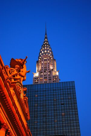 Classic architecture: the beaux artes Grand Central Terminal complements the Art Deco Chrysler Building