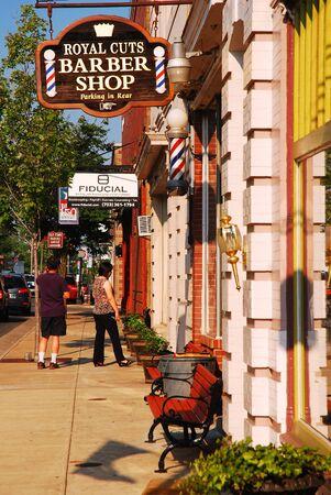 A quaint downtown Manassas, Virginia Editorial