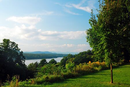 A view of the Hudson River and Valley from Hyde Park, New York