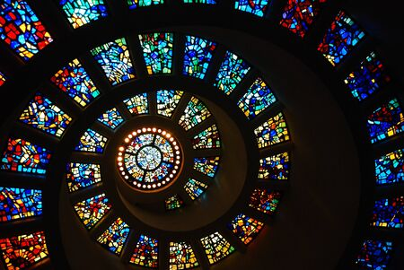 Spiral Stained Glass of the Thanksgiving Chapel, Dallas