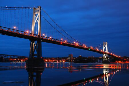 The Mid Hudson Bridge Spans the Hudson River near Poughkeepsie,New York