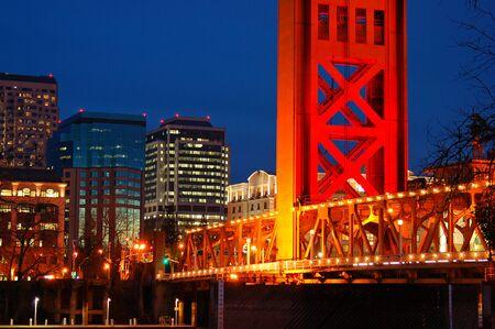 The Tower Bridge and the Sacramento skyline