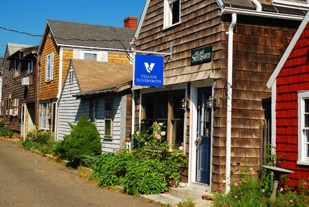 Unique boutiques along Bearskin Neck, Rockport, Massachusetts
