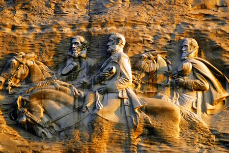 Confederate Carvings on Stone Mountain, Georgia Editorial