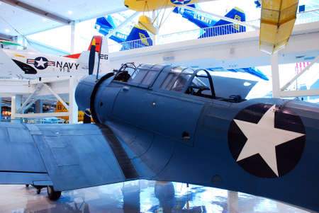 Historic War Planes on Display at the Naval Air Museum in Pensacola Florida