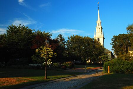 Historic Trinity Church in Newport, Rhode Island