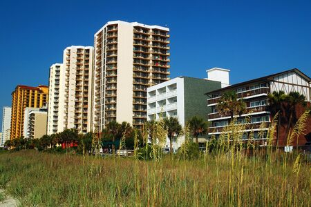 High Rise condos and hotels rise on the oceanfront in Myrtle Beach, South Carolina
