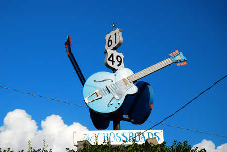 The Crossroads, made famous by a Blues Song, in Clarksdale, Mississippi