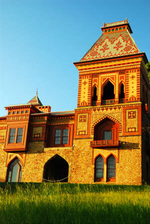 The Moorish architecture is prevalent in the Olana mansion, a beautiful home overlooking the Hudson River in New York