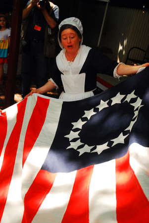 Betsy Ross Flag Demonstration Editorial