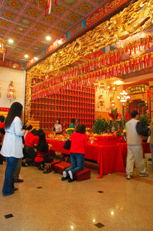 Worshipers gather in a buddhist temple in Los Angeles to celebrate the Lunar New Year Editorial