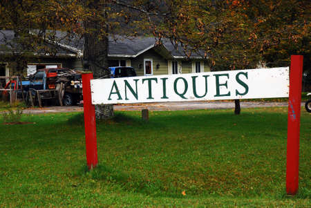 A small antique store lures customers in the along a roadside in Vermont