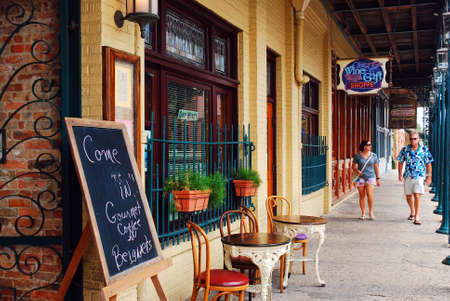 Cafes and boutiques populate the Historic Seville Quarter, of Pensacola, Florida