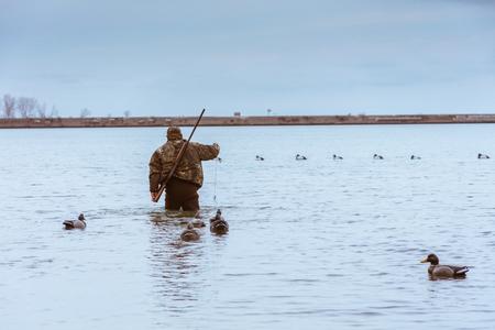 Chasseur dans l'eau