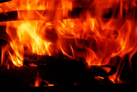 fireplaces: Fire Stock Photo