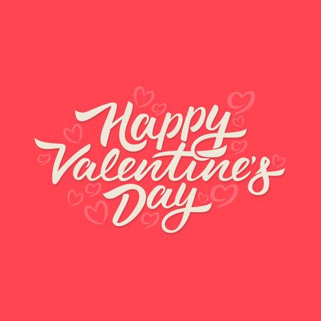 Happy Valentines Day lettering Illustration
