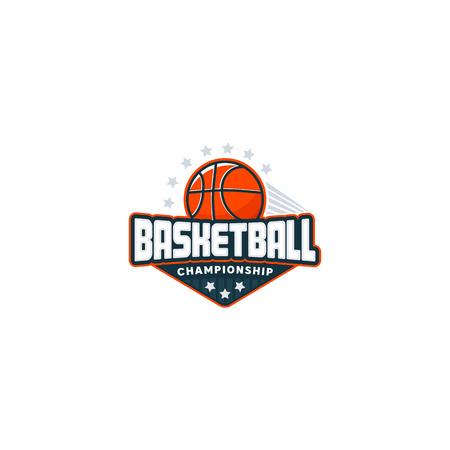Basketball badge logo Illustration