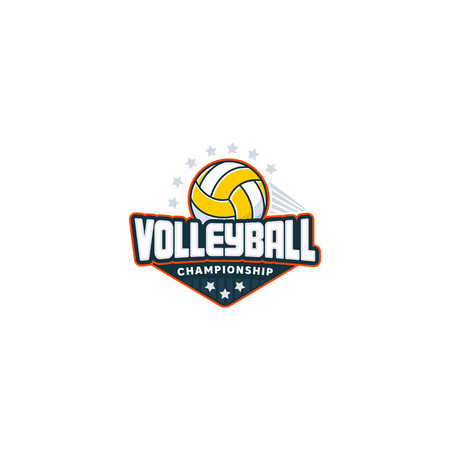Volleyball badge logo
