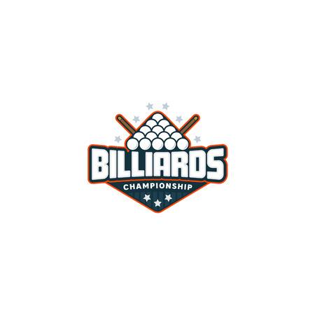 Billiards badge logo Illustration