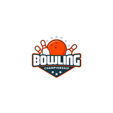 Bowling badge logo