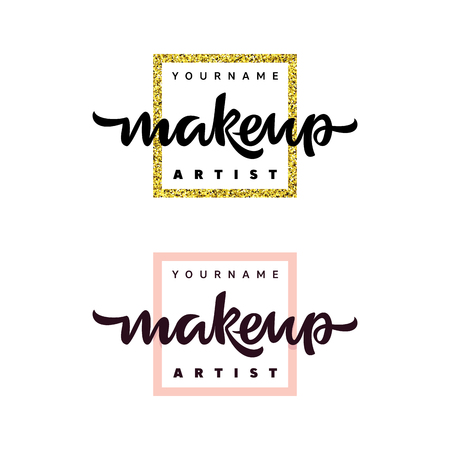Logo de mode artiste maquillage. Illustration de lettrage.