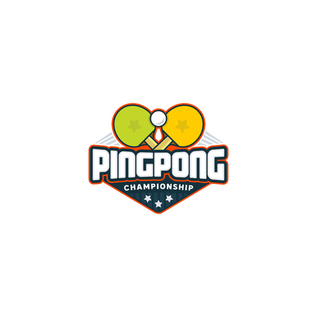 Concept of a Ping pong logo. Table tennis sport badge Illustration