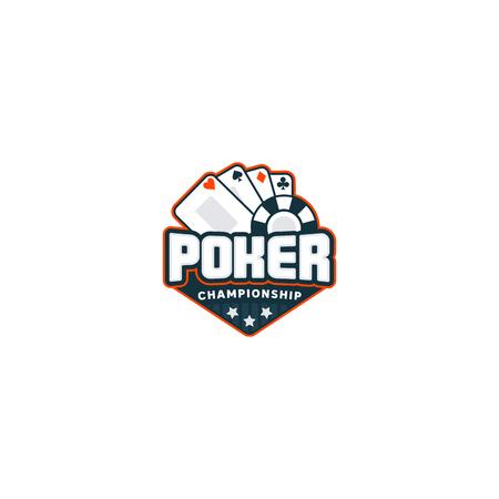 Poker badge logo