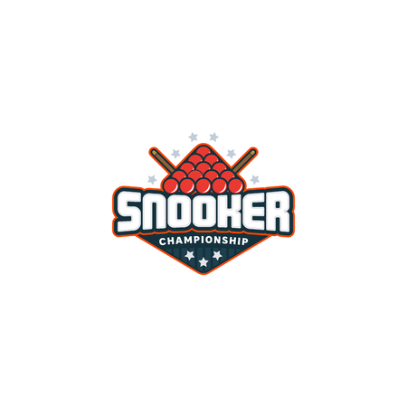 Snooker logo. Sport badge Vector illustration