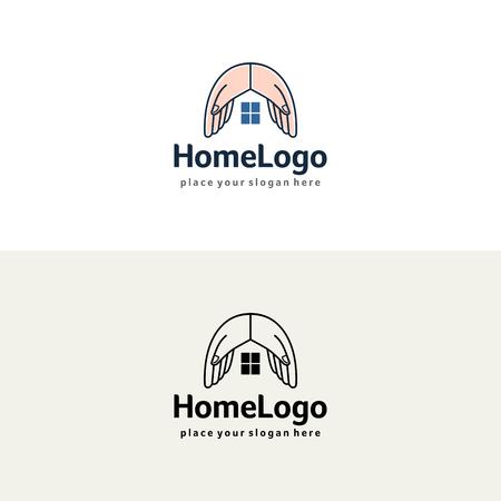 House hands design vector Illustration
