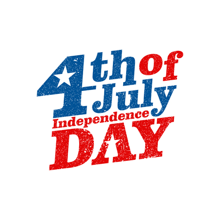 4th of July. Happy Independence Day vector. Fourth of July greeting design.