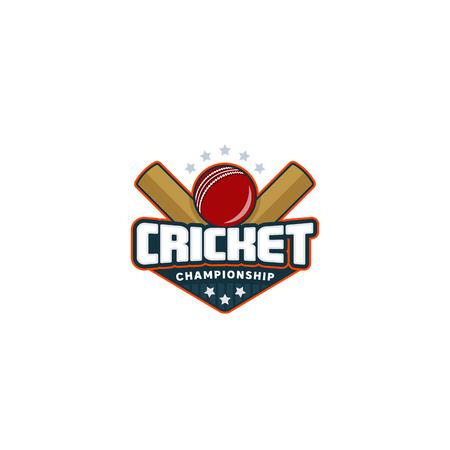 Cricket badge. Sport logo. Vector illustration Championship