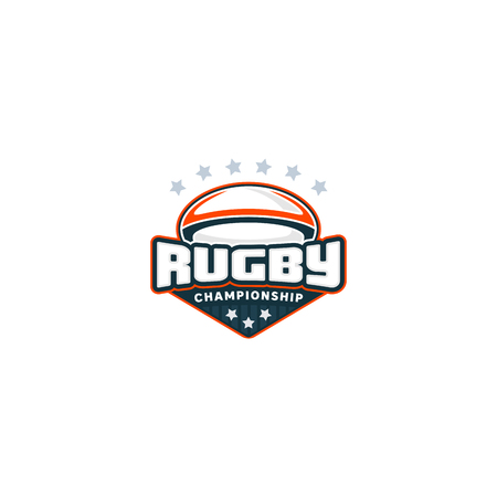 Rugby badge. Sport logo. Vector illustration Championship Stock Photo