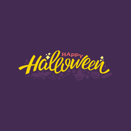 Happy halloween lettering design. Greeting vector illustration. Illustration