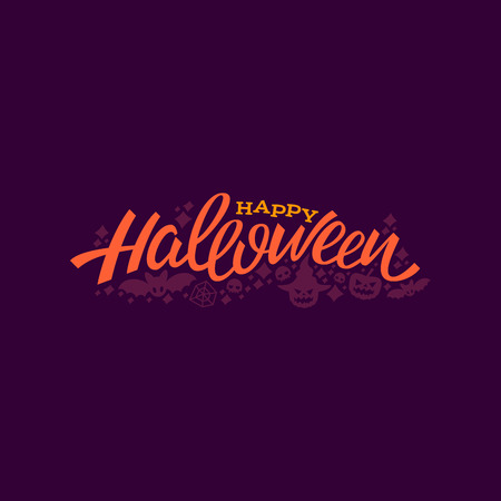Happy halloween logo. lettering logotype design. Greeting vector illustration. Illustration