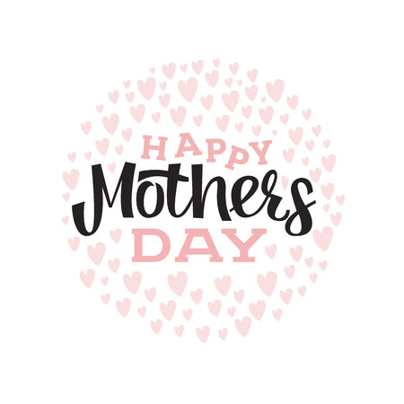 Happy Mothers Day card design template