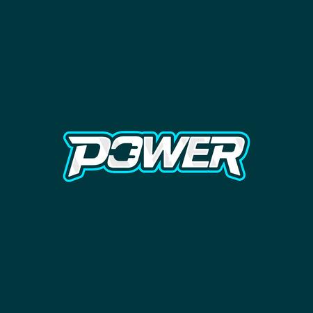 Power logo design. Electric socket energy logotype. Vector emblem