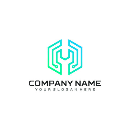 Technology logo vector template design Illustration