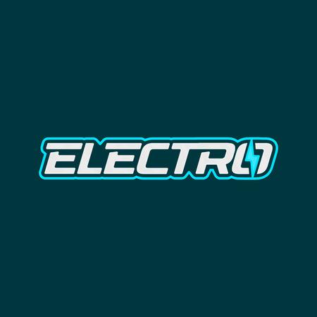 Electro logo design. Electric socket energy logotype. Vector emblem